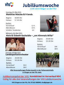 Plakat Veranstaltungswoche