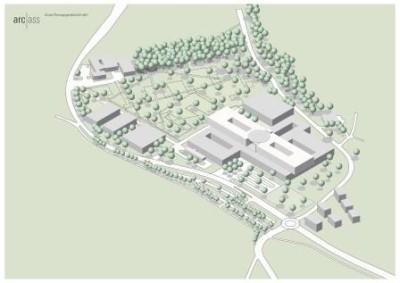 Vorplanung Neubau Klinik am Eichert_3D-Perspektive