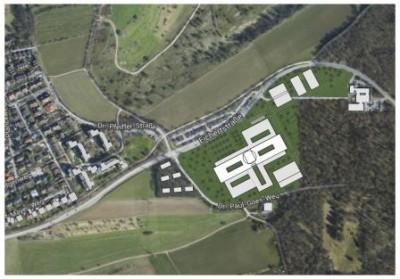 Vorplanung Neubau Klinik am Eichert_Luftbild