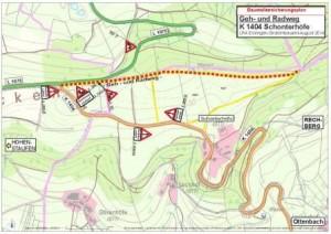 BaustellensicherungRadweg Rechberg-Hohenstaufen