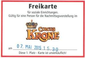 Freikarte Circus Krone
