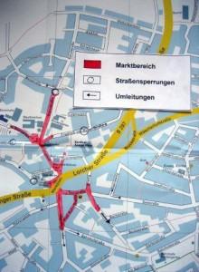 Pfingstmarkt Verkehr