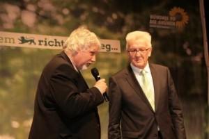 Eckhart Klein mit Ministerpräsident Kretschmann
