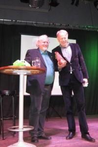 Eckhart Klein, li, mit Jürgen Trittin