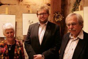 Alexander Maier mit den Künstlern Gertraud Kostiak und Gerhard Papp (re.)