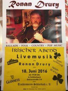 Irischer Abend Ronan Drury