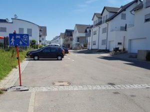 Verkehrsberuhigter Bereich ausgewiesen