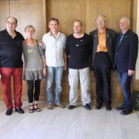 MinR a. D. Herrn Werner Heindl, Krystyna Miller-Gawrzynska, Gerhard Schmidtbauer, Claus Schrag, Rüdiger Wolff, StR a. D. Herrn Karl Hava (v. links) - klein